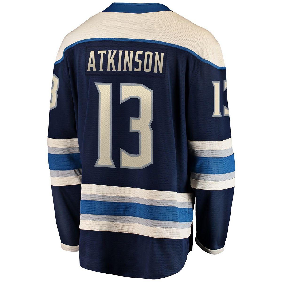 Men's Fanatics Branded Cam Atkinson Navy Columbus Blue Jackets Alternate Premier Breakaway Player Jersey 6NAlC