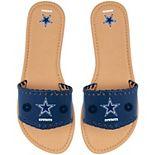 Women's Dallas Cowboys Single Strap Sandals