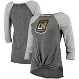 Women's Concepts Sport Charcoal/Gray LAFC Loyalty 3/4-Sleeve T-Shirt