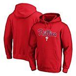 Men's Fanatics Branded Red Philadelphia Phillies Official Wordmark Pullover Hoodie