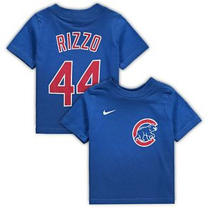 Infant Nike Anthony Rizzo Royal Chicago Cubs Player Name & Number T-Shirt