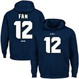 Men's Seattle Seahawks 12s Majestic College Navy Eligible Receiver II Name & Number Hoodie