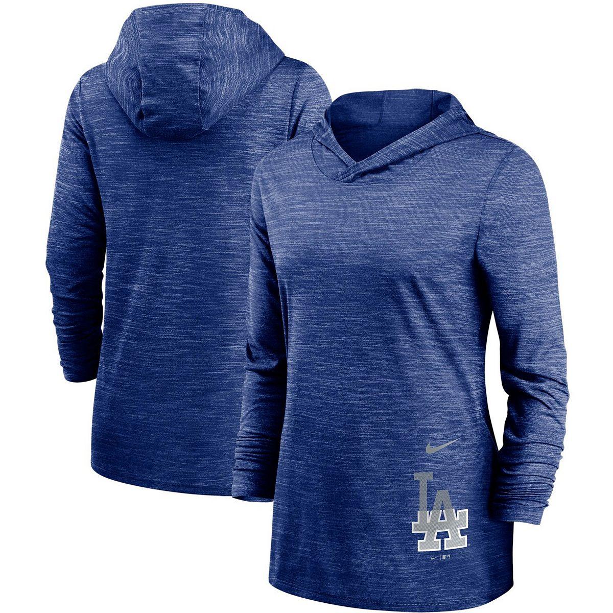 Women's Nike Heathered Royal Los Angeles Dodgers Split Logo Legend Hoodie Training Performance Top m7gsV