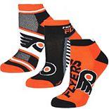 Women's For Bare Feet Philadelphia Flyers Show Me The Money Ankle Socks