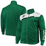Men's Kelly Green/White Boston Celtics Big & Tall Showtime Tricot Full-Zip Track Jacket