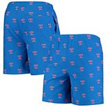 Men's Royal Texas Rangers Cooperstown Collection Mini Logo Swim Shorts