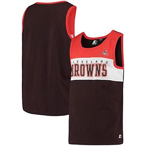 Men's Starter Brown Cleveland Browns Highlight Reel Tank Top