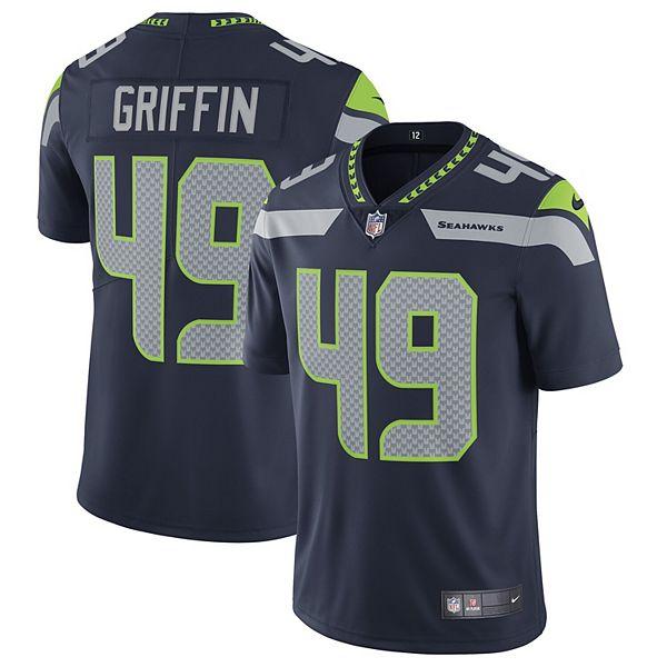 Men's Nike Shaquem Griffin Seattle Seahawks Navy Vapor Untouchable Limited Jersey