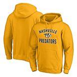 Men's Fanatics Branded Gold Nashville Predators Team Victory Arch Pullover Hoodie