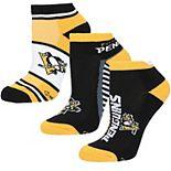 Women's For Bare Feet Pittsburgh Penguins Show Me The Money Ankle Socks