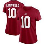 Women's Nike Jimmy Garoppolo Scarlet San Francisco 49ers Team Player Name & Number T-Shirt