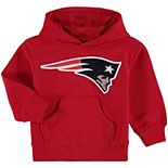 Toddler Red New England Patriots Team Logo Pullover Hoodie