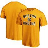 Men's Fanatics Branded Gold Boston Bruins Team Victory Arch T-Shirt