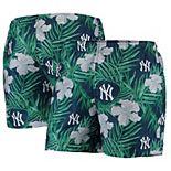 Men's Navy New York Yankees Floral Swim Trunks