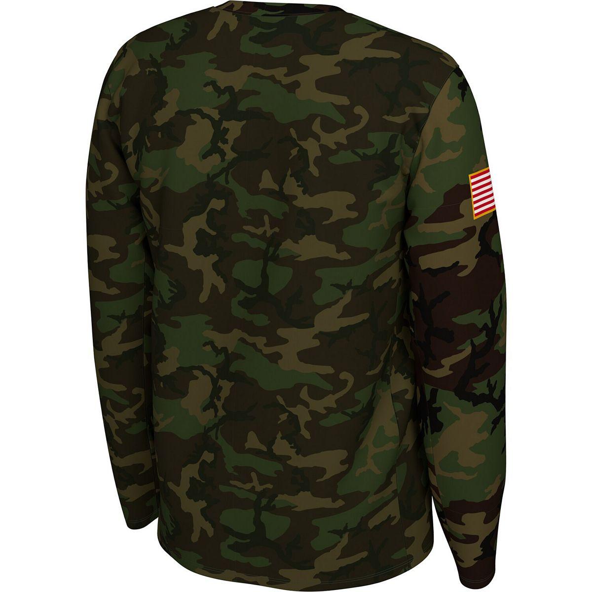Men's Nike Camo Georgia Bulldogs 2019 Veterans Day Legend Long Sleeve T-Shirt H8Wsi
