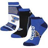 Women's For Bare Feet St. Louis Blues Show Me The Money Ankle Socks