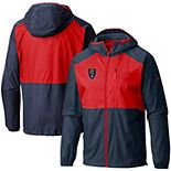 Men's Columbia Navy Real Salt Lake Flash Forward Windbreaker Jacket