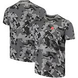 Men's MSX by Michael Strahan Black Cleveland Browns Camo Printed T-Shirt