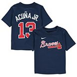 Infant Nike Ronald Acuna Jr. Navy Atlanta Braves Player Name & Number T-Shirt