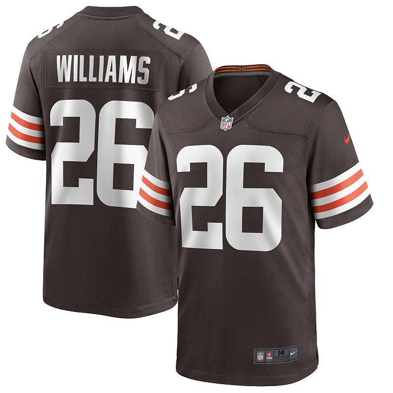 Men's Nike Greedy Williams Brown Cleveland Browns Game Jersey, Size: XL