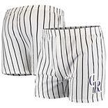 Men's Concepts Sport White Colorado Rockies Vigor Boxer Shorts