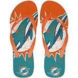 Miami Dolphins Big Logo Flip Flop Sandals