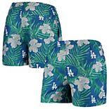 Men's Royal Los Angeles Dodgers Floral Swim Trunks