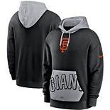 Men's Nike Black San Francisco Giants Heritage Tri-Blend Pullover Hoodie
