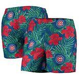 Men's Royal Chicago Cubs Floral Swim Trunks