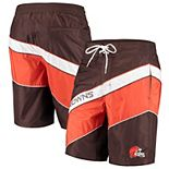 Men's G-III Sports by Carl Banks Brown/Orange Cleveland Browns Rookie Swim Trunks