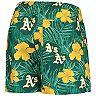 Men's Green Oakland Athletics Floral Swim Trunks