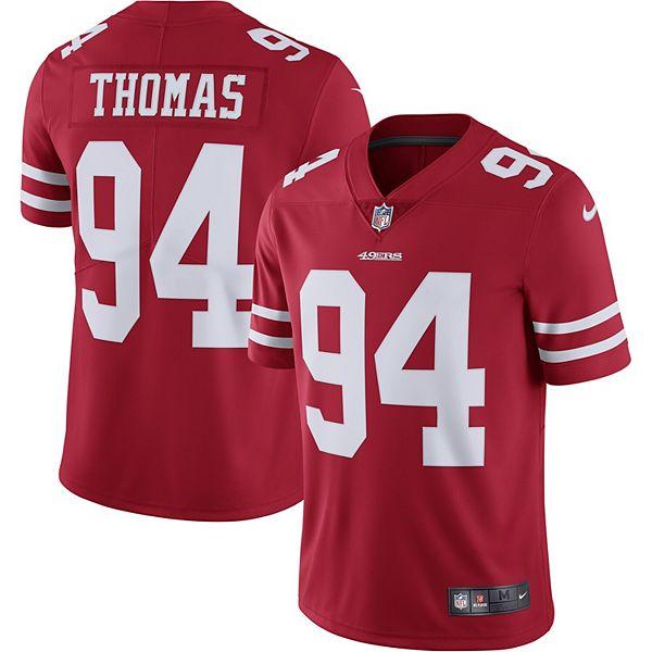 Men's Nike Solomon Thomas San Francisco 49ers Scarlet Vapor Untouchable Limited Jersey