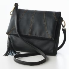 axcess Faux-Leather Cross-Body Handbag