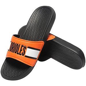 Men's Orange Baltimore Orioles Raised Slide Sandals