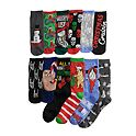 12-Pack Men's 12 Days of Socks Biker Santa Low-Cut Socks
