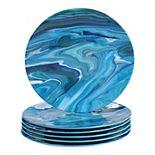 Certified International Fluidity 6-pc. Melamine Dinner Plate Set