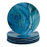 Certified International Fluidity 6-pc. Melamine Salad Plate Set
