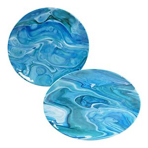 Certified International Fluidity 2-pc. Melamine Serving Platter Set