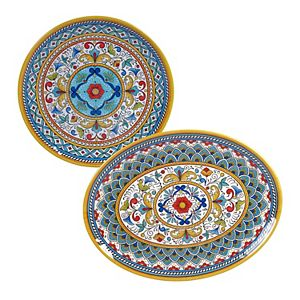 Certified International Portofino 2-pc. Melamine Platter Set