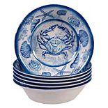 Certified International Oceanic 6-pc. Melamine All-Purpose Bowl Set