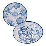 Certified International Oceanic 2-pc. Melamine Platter Set