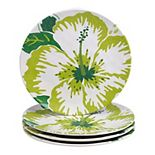 Certified International Tropicali 4-pc. Melamine Salad Plate Set