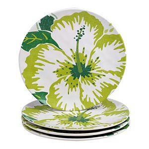 Certified International Tropicali 4-pc. Melamine Salad Plate Set