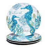 Certified International Beachcomber 4-pc. Melamine Dinner Plate Set