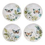 Certified International Nature Garden 4-pc. Salad Plate Set