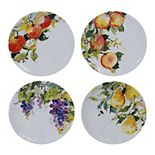 Certified International Ambrosia 4-pc. Salad Plate Set