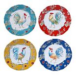 Certified International Morning Bloom 4-pc. Salad Plate Set
