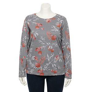 Plus Size Croft & Barrow® Extra Soft Crewneck Sweatshirt