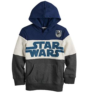 Boys 4-12 Sonoma Goods For Life® Star Wars Colorblock Softest Fleece Hoodie