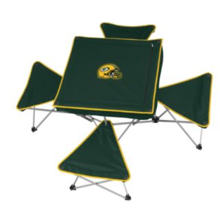 Green Bay Packers Portable Folding Table and Stool Set